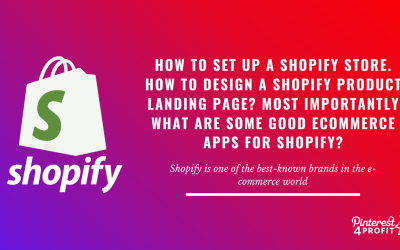 How to Set Up a Shopify Store. How to Design a Shopify Product Landing Page? Most Importantly What Are Some Good Ecommerce Apps for Shopify?